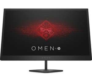 "HP OMEN 25 24.5"" FHD 144Hz 1ms TN 400nits FreeSync (1 DP, 2 HDMI) Gaming Monitor - £154.97 delivered with code at Currys PC World"