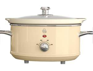 Swan SF17021CN 3.5L Retro Slow Cooker - Cream - £16.99 (free click and collect) @ Robert Dyas