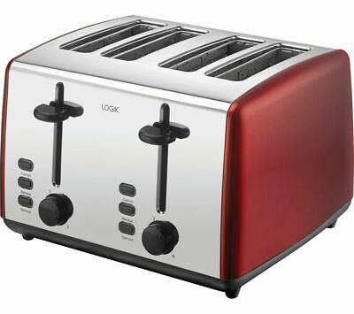 LOGIK L04TR19 4-Slice Toaster - Red or Cream - £19.99 delivered @ Currys PC World / eBay