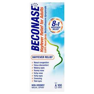 Beconase: 8 in 1 hayfever relief - £3.49 + £3.49 Delivery @ Savers