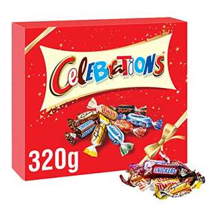 Celebrations Chocolate Gift Box, (Maltesers, Galaxy, Snickers and More), 320g - £2.69 (+£4.49 Non Prime) @ Amazon