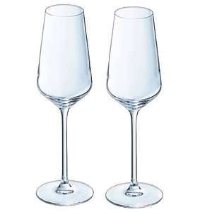 Cristal d'arques champagne flutes - pair £1.99 at Home Bargains Mold