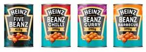 Heinz Five Beanz 415g / Tomato & Chilli Sauce 390g / Curry Sauce 390g / Barbecue Sauce 390g - Half price - 50p @ Asda