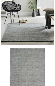 Boucle Wool Rug in Grey or Natural - various sizes. From £17.50 c&c from Dunelm (£3.95 delivery)