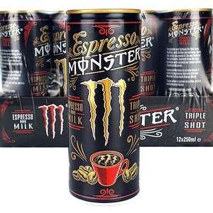 24 x Espresso Monster Triple Shot And Milk 250ml Drinks Cans £12 at Yankee Bundles