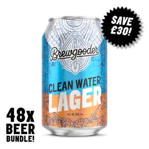 Brewgooder Clean Water Lager 48 can pack £50 @ Brewgooder