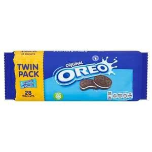 Oreo Chocolate Sandwich Biscuit Twinpack 308g £1 at Ocado