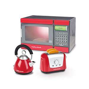 Toy Morphy Richards M.R. Microwave, Kettle & Toaster Toys Red/Grey £8.10 Amazon Prime / £12.59 Non Prime