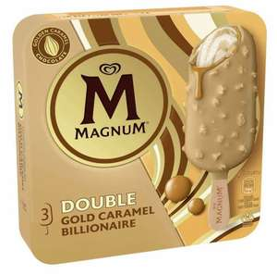 Magnum Double Gold Caramel Billionaire Ice Cream 3 Pack are £1.99 @ B&M Middleton