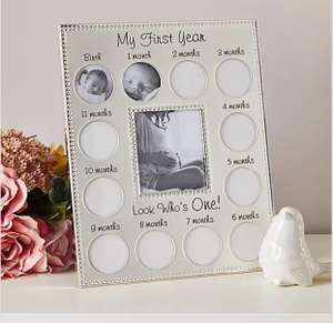 My First Year Silver Plated Photo Frame (Free collection/Selected locations) £4 at Dunelm