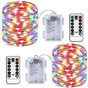 LED Fairy Lights 2 Pack Battery Operated String Lights £8.23 (+£4.49 non-prime) via Sold by HOMOZE and Fulfilled by Amazom