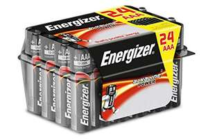 Energizer AAA Batteries, Alkaline Power, 24 Family Pack - £6.08 Prime/+£4.49 Non Prime (Mainland UK delivery) Sold by Amazon EU @ Amazon