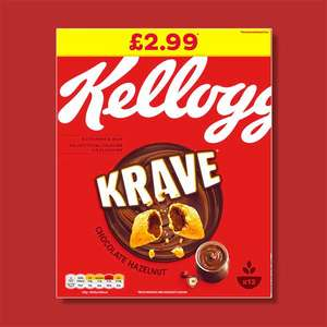 6 X KELLOGG'S Krave Chocolate Hazelnut 375g Cereal Boxes (Best Before 16/06/2021) - £9 Delivered @ Yankee Bundles