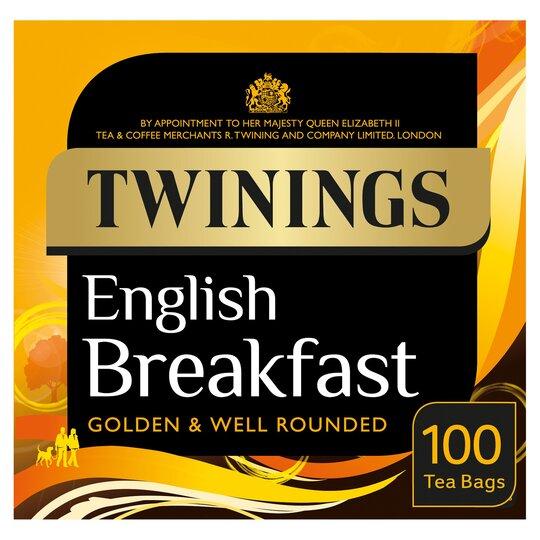 Twinings English Breakfast 100 Teabags 250G £2.65 (Clubcard price) @ Tesco