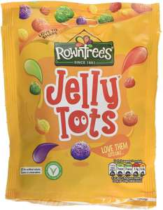 Rowntrees Jelly Tots Sweets Sharing Pouch, 150 g - Pack of 10 £8.90 (+£4.49 Non Prime) or £7.57/£8.01 s&s @ Amazon