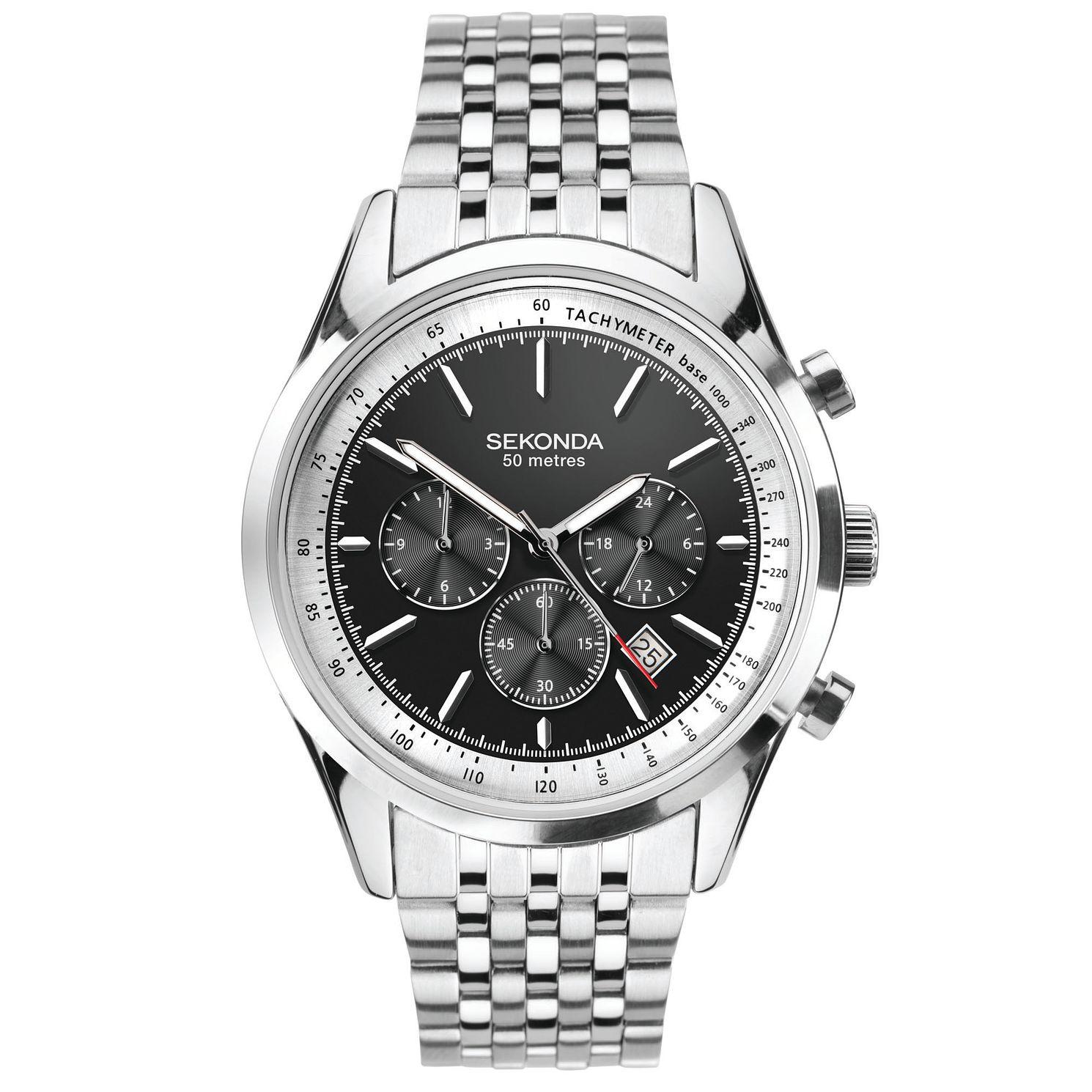Sekonda Chronograph watch on stainless steel bracelet £34.99 H Samuel
