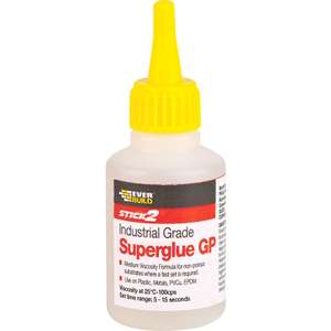 Everbuild stick 2 general purpose super glue 20g only £1.19 (Free click and collect / £5 delivery) @ Toolstation
