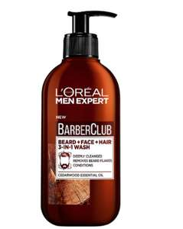 L'Oreal Paris Men Expert, Beard Shampoo, Barber Club 3-in-1 Beard, Hair & Face Wash, 200 ml £5 prime / £9.49 non prime @ Amazon