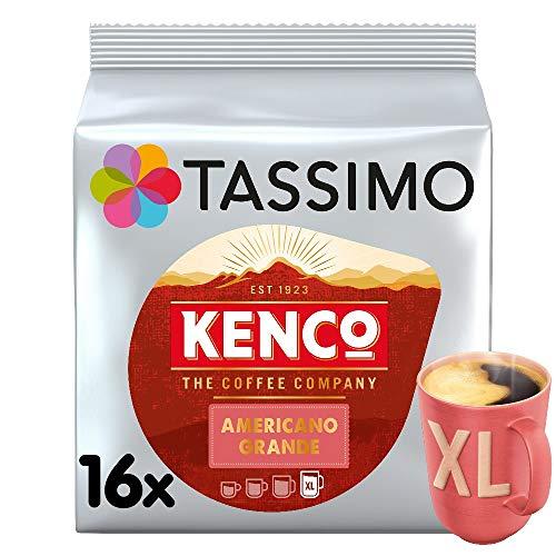 Tassimo Kenco Americano Grande Coffee Pods (Pack of 5, Total 80 Coffee Capsules) - £15.95 (£14.36 with S&S / +£4.49 non-prime) @ Amazon