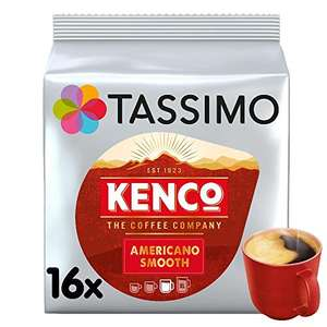 Tassimo Kenco Americano Smooth Coffee Pods (Pack of 5, Total 80 Coffee Capsules) - £15.95 (£14.36 with S&S / +£4.49 non-prime) @ Amazon