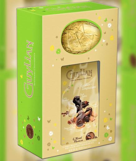 3 x guylian artisanal chocolates temptations 274g easter eggs £8 @ Yankee Bundles