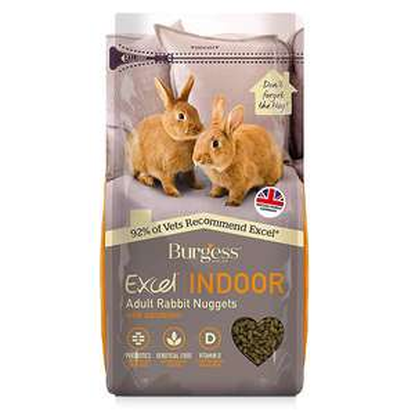 Excel Burgess Indoor Rabbit Nuggets, 1.5 kg - £3.26 Prime / +£4.49 non Prime @ Amazon