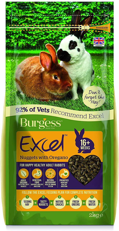Burgess Excel Rabbit Adult Oregano, 2 kg - £3.18 Prime / +£4.49 non Prime @ Amazon