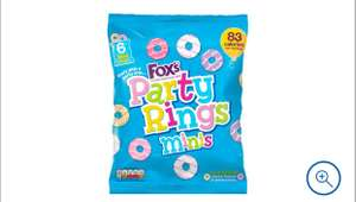 Fox's Mini Party Rings 120G 75p clubcard price @ Tesco