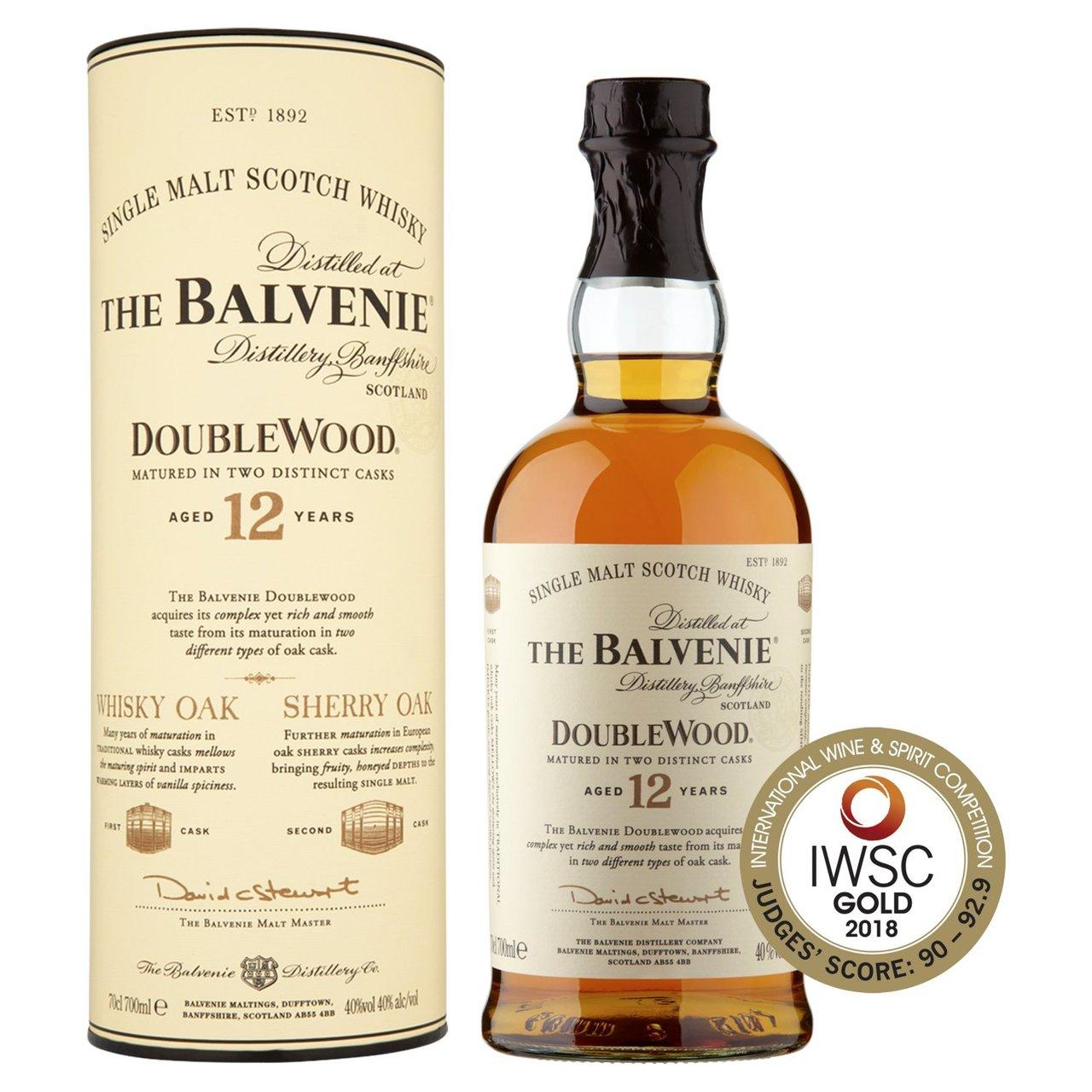 The Balvenie DoubleWood Aged 12 Years Single Malt Scotch - £32 @ Morrisons
