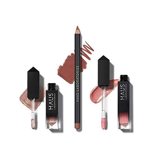 HAUS LABORATORIES Makeup Kit with Bag, Liquid Eyeshadow, Lip Liner Pencil, and Lip Gloss - £13.43 Prime / +£4.49 non Prime @ Amazon