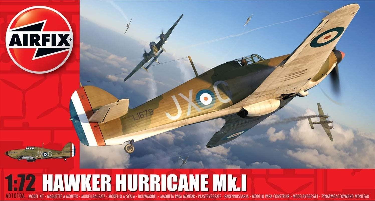 Airfix A01010A Hawker Hurricane Mk.I Aircraft - £3.97 Prime / +£4.49 non Prime @ Amazon
