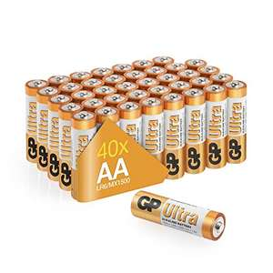 Lightning deal - AA alkaline batteries GP (Pack of 40) £10.99 prime / £15.48 non prime Sold by Batteries247 and Fulfilled by Amazon
