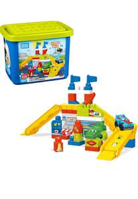Mega Bloks FVJ02 Race Car Garage Bricks, Multi-Colour, One Size £11.92 prime / £16.41 non prime @ Amazon