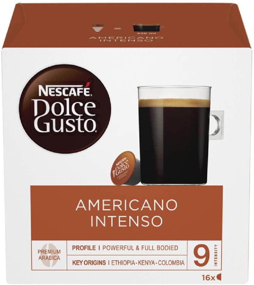 Nescafé Dolce Gusto Americano Intenso Coffee Pods (1 Pack = 16 Pods) - £2.99 Prime (£4.49 non Prime) @ Amazon