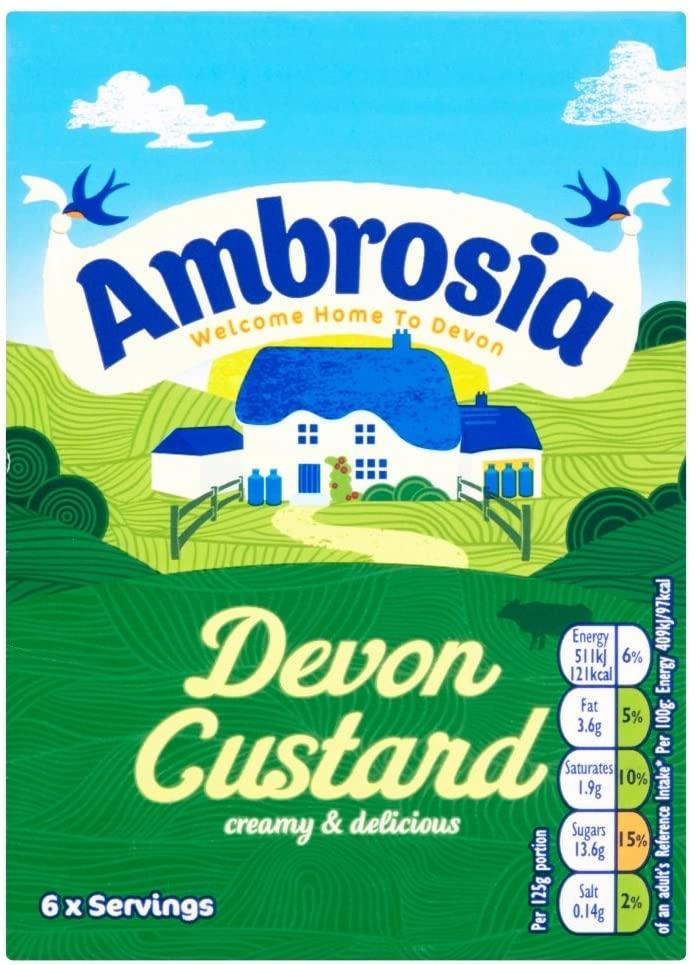 Ambrosia Devon Custard 750g - £1 Prime / +£4.49 non Prime @ Amazon