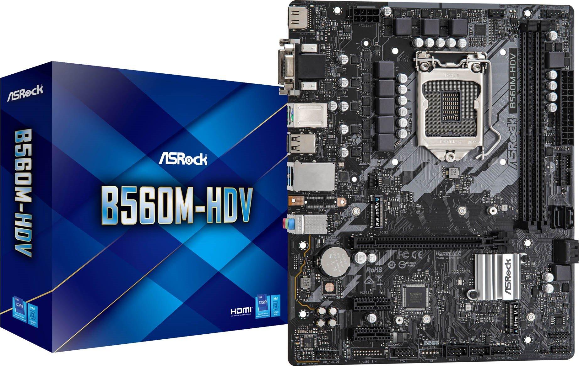 ASRock B560M-HDV Intel Socket 1200 Motherboard - £75.45 delivered @ CCLOnline