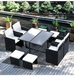 Rattan Furniture Set Wicker Weave Patio Dining Table Seat - £464.99 delivered using code @ 2011homcom / eBay