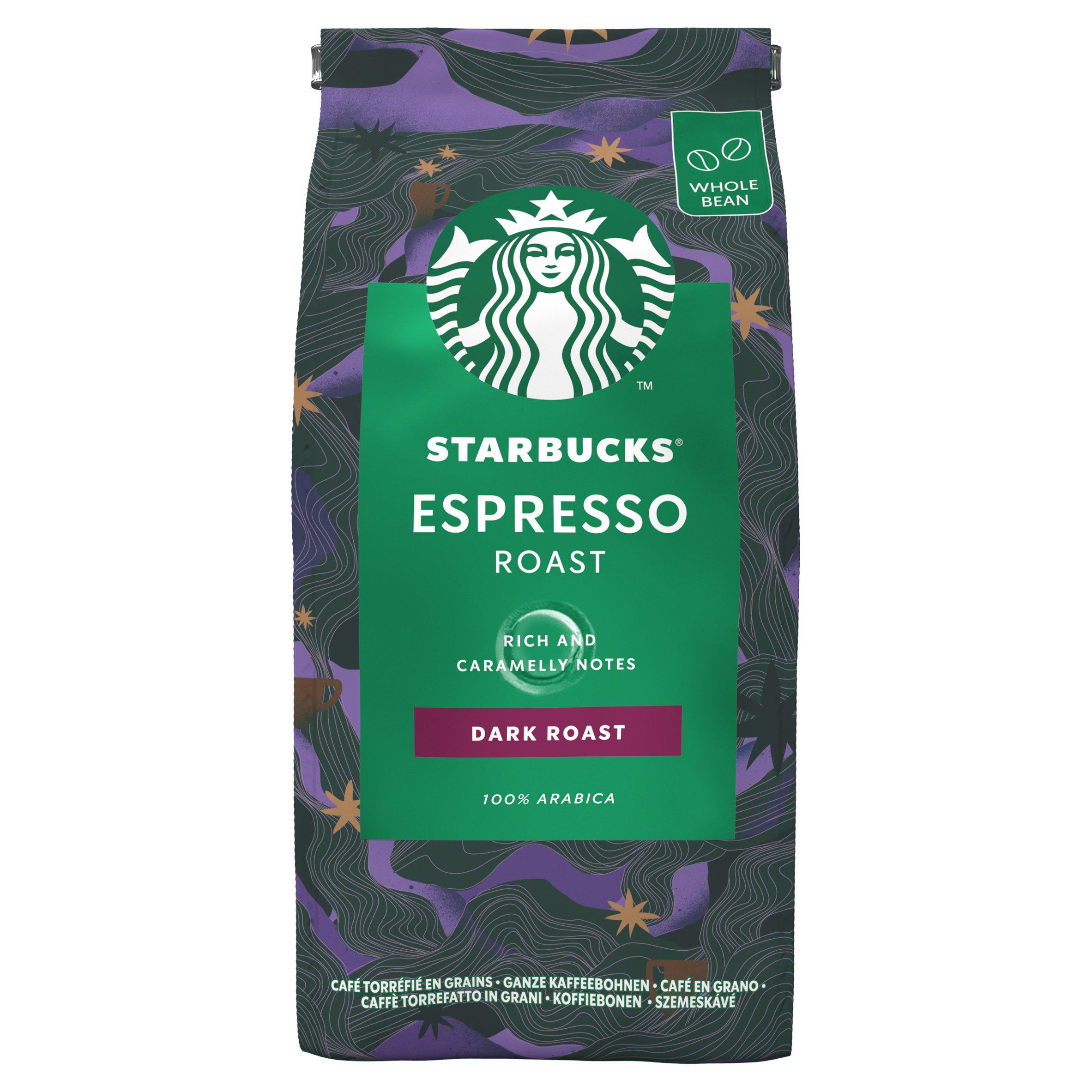 Starbucks Fairtrade Espresso Roast Dark Whole Bean 100% Arabica Coffee Bag 200g - £2.50 @ Sainsbury's