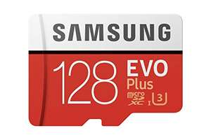 128GB Samsung Evo Plus Class 10 U3 100MB/S Micro SD SDXC card, £13.98 (+£4.49 non prime) Sold by City_of_memory15 and Fulfilled by Amazon