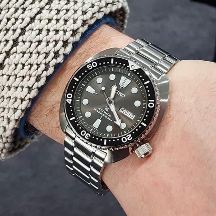 Seiko SRPC23K1 Prospex Automatic Diver's Bracelet Turtle Grey £275 @ Chapelle Jewellery