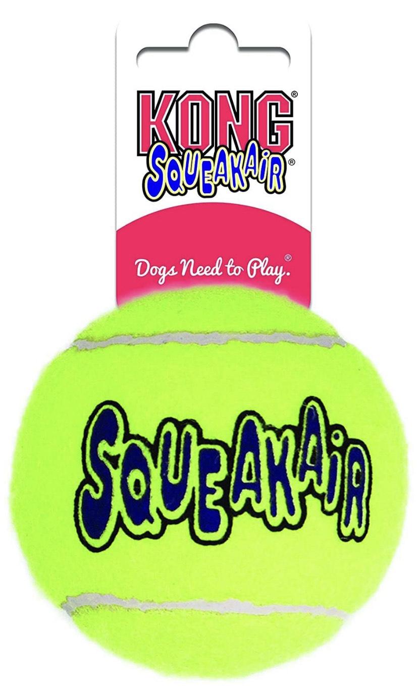KONG - Squeakair Ball - Dog Toy Premium Squeak Tennis Balls, Gentle on Teeth - For Medium Dogs £1.15 + £4.49 NP @ Amazon