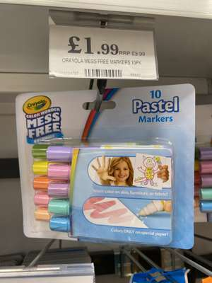Crayola Mess Free Markers, £1.99 instore @ Home Bargains, Whitchurch, Shropshire