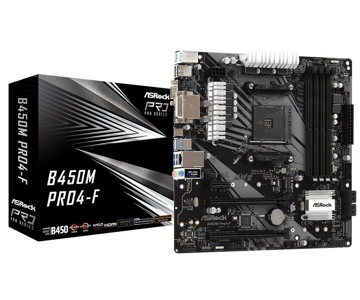 ASRock B450M Pro4-F AMD Socket AM4 Motherboard £61.49 @ CCLOnline