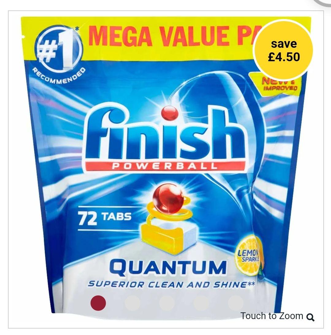 Finish Quantum Max Dishwasher Tablets Lemon 72 pack £9.50 @ Wilko