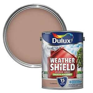 Dulux Weathershield Sandstone Smooth Masonry Paint 5L £23 delivered @ Wilko