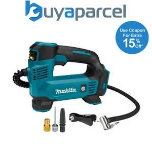 Makita DMP180Z 18V LXT Lithium Ion Cordless Inflator Digital Bare + Adapters, £53.97 with code at buyaparcel-store/ebay