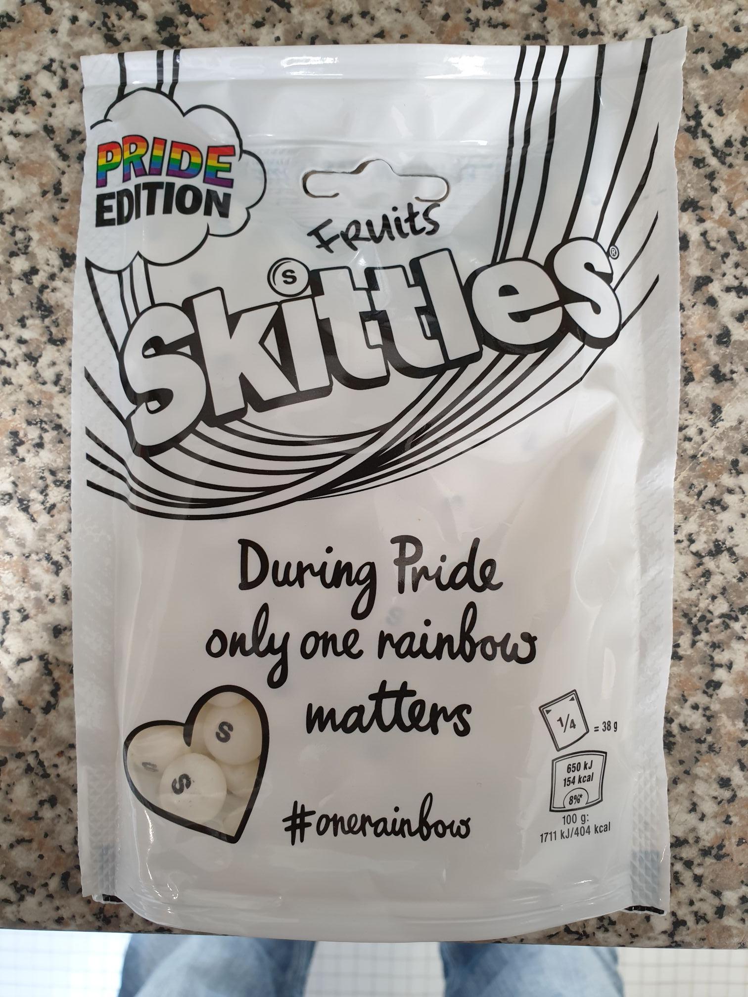 White Skittles PRIDE edition 152g only 49p Farmfoods (Tredegar)