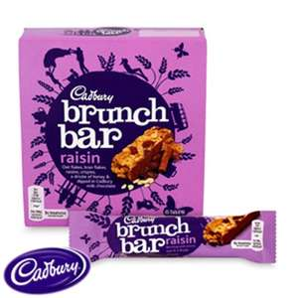 Cadbury Brunch Bars: Raisin (Case of 36 Bars) £5.94 @ Home Bargains