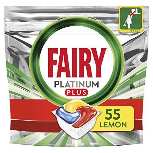 Fairy Platinum Plus All-in-One Dishwasher Tablets Bulk, Lemon, 55 Tablets £8.99 / £7.64 S&S + £4.49 NP @ Amazon