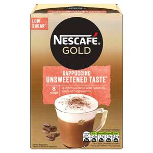 Nescafe Gold Cappuccino Unsweetened Instant Coffee 8 x 14.2g Sachets - £1.25 @ Iceland
